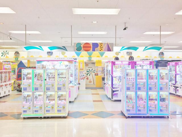 高尾駅周辺でクレーンゲームができるスポット「ソユープレイランドソピア八王子店」内観